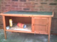 guinea pig hutch and run, all most new