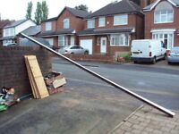 Free flow brown square guttering 482cm by 12cm