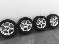 ALLOYS 5 STUD FITTING SUITS VOLKSWAGEN WITH EXCELLENT TYRES