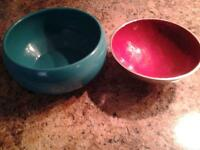 TWO NICE BOWLS , NICE ACCENT PIECES FROM HOMESENSE
