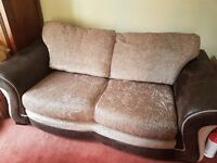 Brand New Luxury 2 Seat / Seater Italian Designer High Quality Leather Sofa