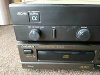 Arcam amplifier and technics cd player
