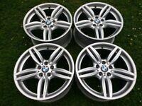 "19"" GENUINE BMW 5 SERIES F10 F11 M SPORT 351M ALLOYS 5x120 WHEELS F30 F31 E90 E91 Z4"