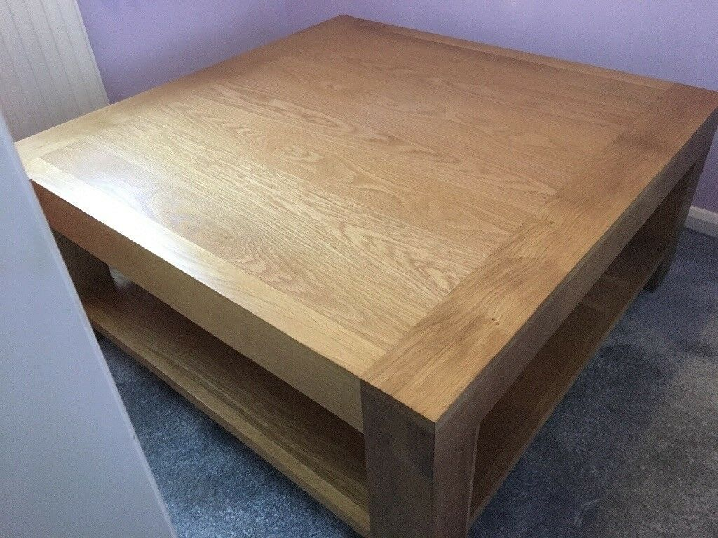 Santana Blonde Oak Square Coffee Table In Stevenage Hertfordshire