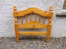 SINGLE PINE BED HEADBOARD AND FOOTBOARD ONLY