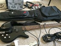 Opportunity 50% off !!! Ibanez GIO 200 - Bass guitar + pedal + bag + cables + accessories !!!