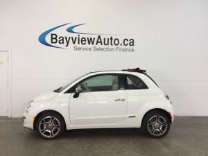 2013 Fiat 500 LOUNGE- 6 SPD|CONVERTIBLE|HTD LTHR|AC|CRUISE!