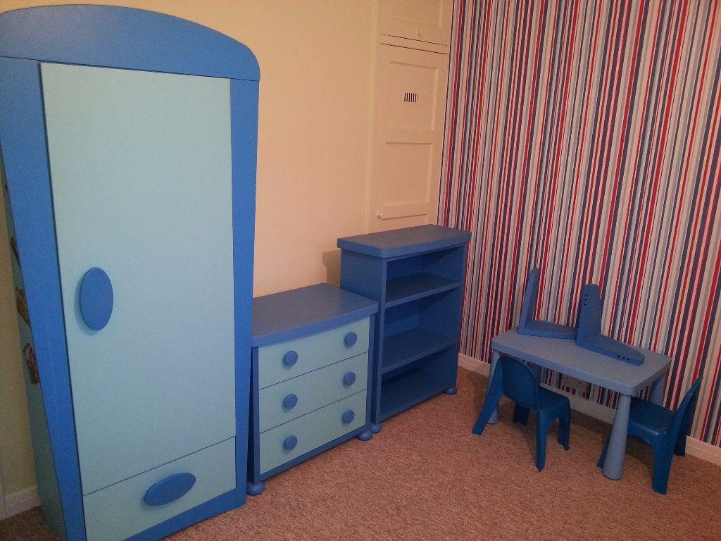 Ikea Mammut Furniture Set Wardrobe Drawer Chest Table Shelf Blue  # Muebles Mammut Ikea