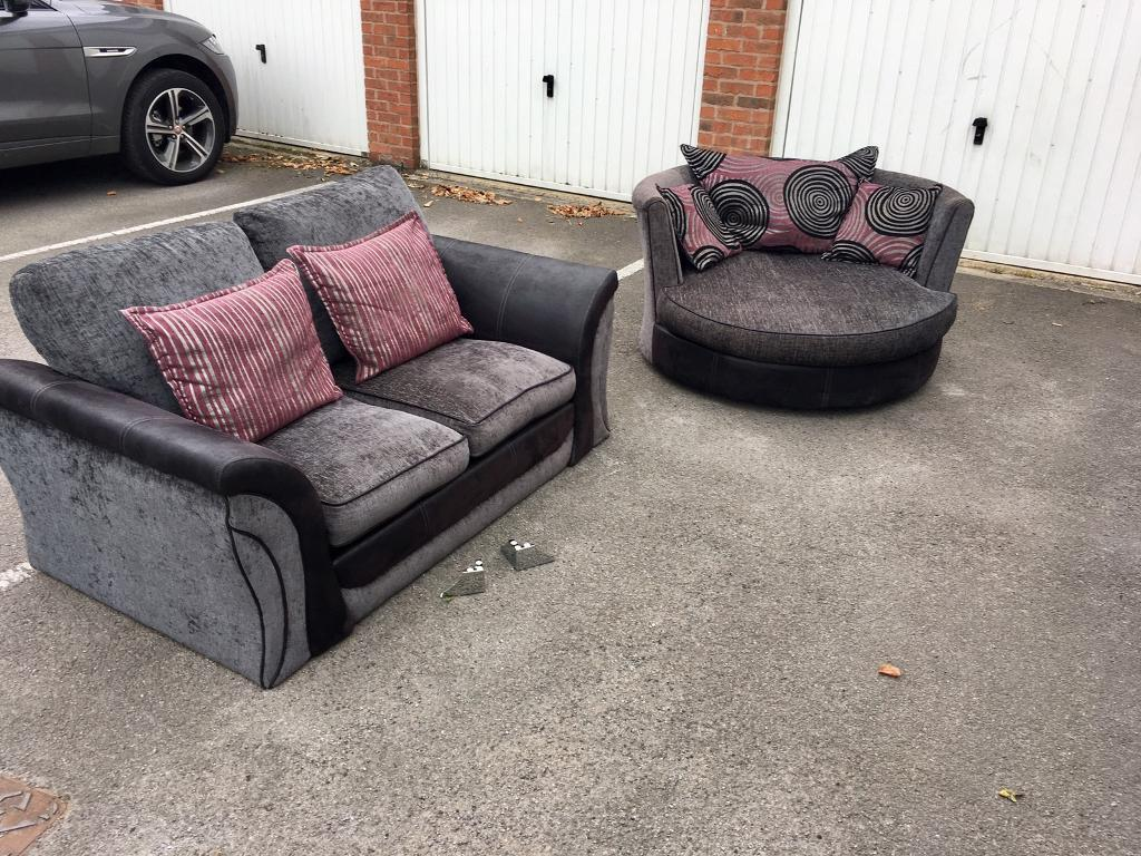 Dfs sofa and swivel chair