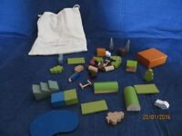 Mini wooden sets - country, town and London