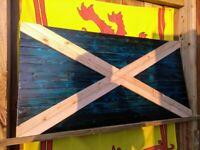 Flag Banner 150cm x 90cm Edinburgh City Castle 5ft x 3ft