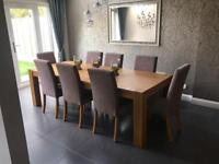 Harveys Oak, Dining Table, chairs and side board