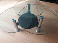Contemporary Glass trio swivel coffee tables ***REDUCED *** for quick sale