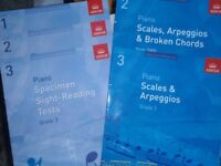 Piano and clariinet books. Grade 1-3 -Sight reading, peices, scales and arpeggios, other books too