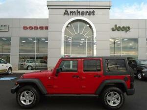 2014 Jeep Wrangler Unlimited Sport 4x4 MANUAL GOLD PLAN WARRANTY