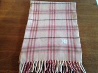 Burberry checked pink scarf