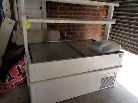 Large retail shop chest freezer