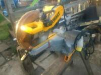 305mm DeWalt mitre chop saw large 110v