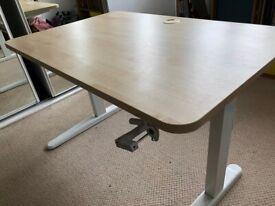 Sit / stand desk - manual operation, 120cm x 80cm top
