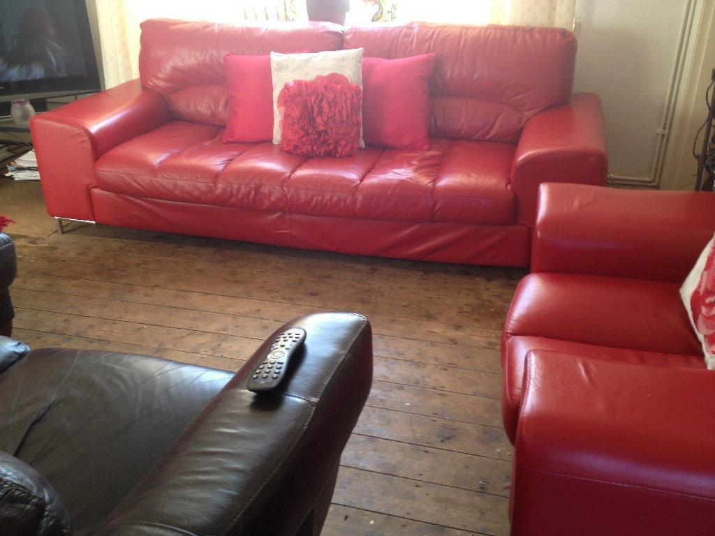 4 Seater Leather Dfs Dofa And Chair In Stoke On Trent Staffordshire Gumtree