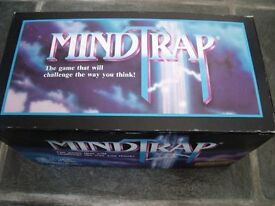 Mindtrap 'The Game That Will Challenge The Way You Think' 2 Players or Teams. Age 12-Adult