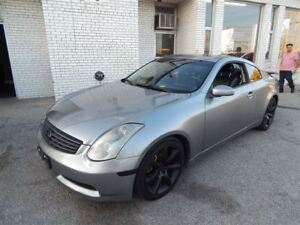 2005 Infiniti G35 coupe leather sunroof