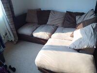 Large comfy 3-seater corner sofa