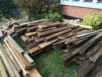 Large quantity of timber