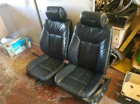 BMW E39 FULL LEATHER FRONT TWO SEATS ELECTRIC HEATED CAMPERVAN RETORFIT VW AUDI CADDY VAN BARGAIN