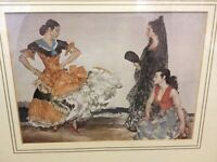 Pictures x 7, Sir William Russell Flint, framed under glass in great condition from smoke free home.