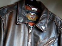Check out prices on HARLEY DAVIDSON clothes...Bargain .£179....Size 40/42-Med.Nice badges.on collar.