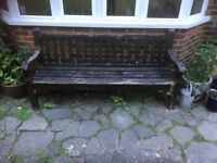 Renovation Project Large Hardwood Garden Bench Coulsdon CR5 near Croydon