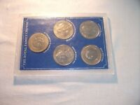 The Royal Family Crowns Set, 5 Coins in Plastic Case.