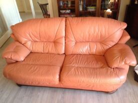 Two quality leather sofas. Must be collected before Wednesday 4th July .