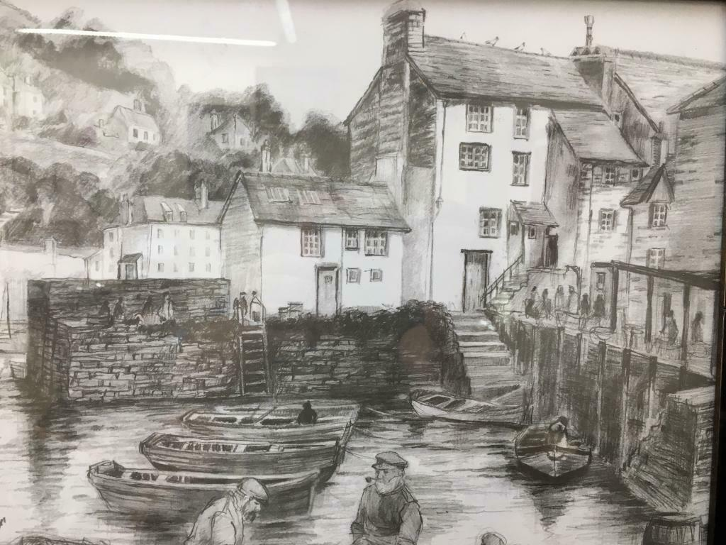 Image result for old drawing of polperro