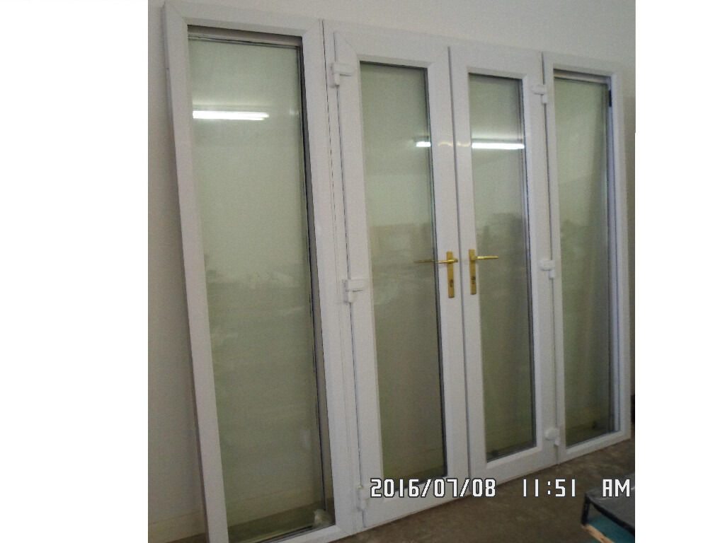 upvc french doors patio door with side panels in