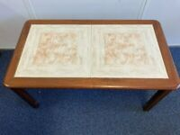 coffee table,vintage brown and cream made by sunelm, retro/vintage/upcycling.