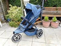 blue and grey phil and teds sport single seat buggy