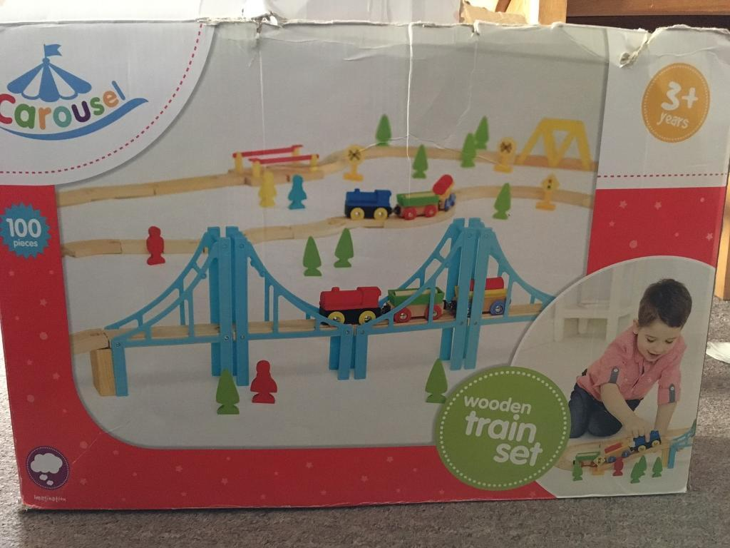 Carousel Wooden Train Set 100 Pieces In Worthing West Sussex Gumtree