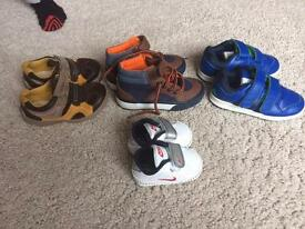 Boys shoes including Nike