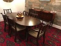 Mahogany dining table and sideboard