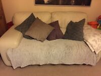 2 seater sofa barker and stone house cream leather FREE TO COLLECT