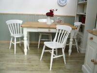 Stunning Pine Farmhouse 4½ft and Chair Set.