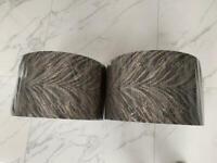 2 brand new bespoke lampshades