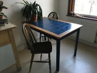 Vintage Wooden Dining Table and Chairs