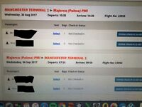 2 return tickets / Manchester to Majorca Palma / 30/08/17 - 06/09/17 / with 20kg bag Jet2