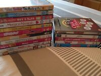 Selection of Disney and chick flick DVDS