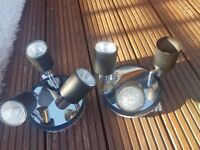 Pair of Ceiling 3 Light Spotlights for Sale