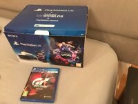 New condition boxed psvr + camera with game gran turismo sport. £260 NO OFFERS.CAN DELIVER