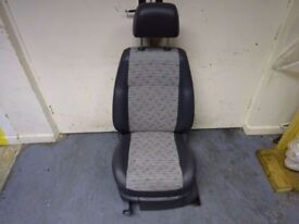 VW CADDY MK2 2K 2004-ON GREY PASSENGER LEFT FRONT INTERIOR SEAT